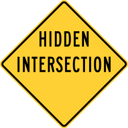 and Canada Inter...Y Intersection Sign