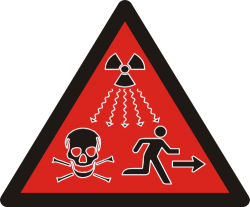 Ionizing radiation sign