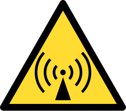 Non-ionizing radiation sign