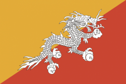 Image of the Flag of Bhutan