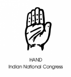 Image of the Indian National Congress Symbol - Hand