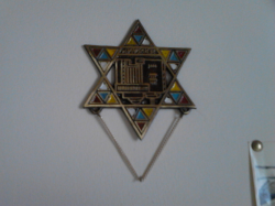 Star of David with Old Jerusalem Temple