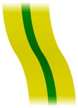 Olive-green ribbon