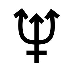 Uranus Planet Symbol On Flag Pics About Space