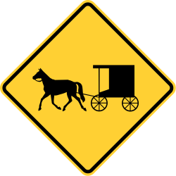 Horse-Drawn Vehicle Ahead