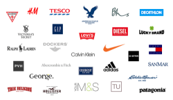 Brand name clothing store logos