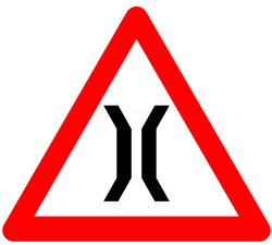 Narrow Bridge Warning