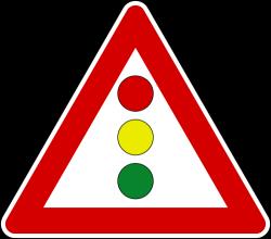 Vertical Traffic Signal Ahead