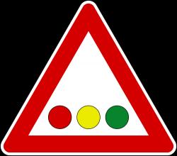 Horizontal Traffic Signal Ahead