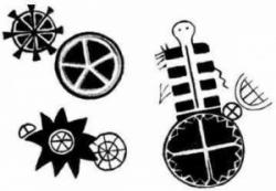 Cross in a Circle Symbol