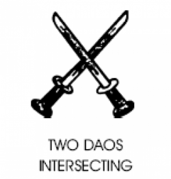 Arunachal Congress Symbol - Two Daos Intersecting