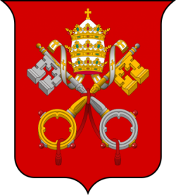Coats of arms of the Holy See and Vatican City