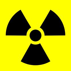 Radioactive trefoil symbol