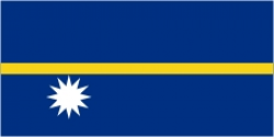 The National flag of Nauru