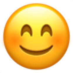 Smiling Face With Smiling Eyes (Apple iOS 10.3)