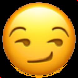 Smirking Face (Apple iOS 10.3)