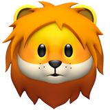 Lion Face (Apple iOS 12.2)
