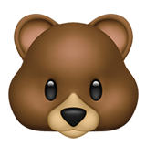 Bear Face (Apple iOS 12.2)