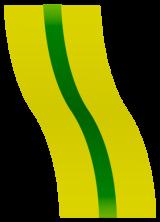 Olive-green awareness ribbon
