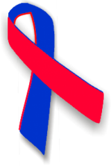 Red and blue awareness ribbon