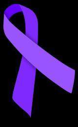 Violet awareness ribbon