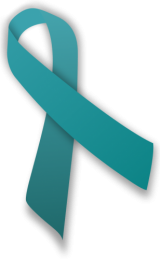 Teal awareness ribbon