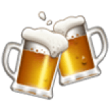 Clinking Beer Mugs (Samsung One UI 1.5)