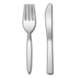 Fork and Knife (Samsung One UI 1.5)
