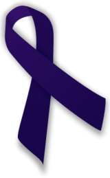 Indigo awareness ribbon