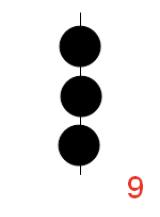 3 balls (vert. line)
