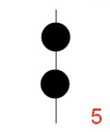 2 balls (vert. line)