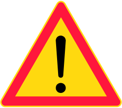 General Warning Sign - Finland