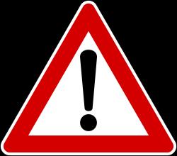 General Warning Sign - Italy